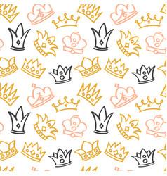 newborn cute girl seamless pattern vector image