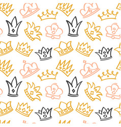 Newborn cute girl seamless pattern with vector