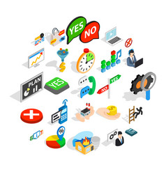 occupation icons set isometric style vector image
