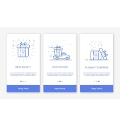 Onboarding app screens and vector