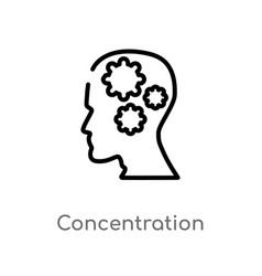 Outline concentration icon isolated black simple vector