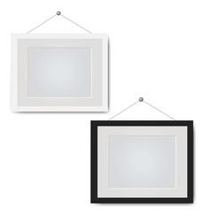 picture frame set isolated white background vector image
