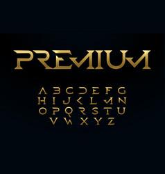 Premium alphabet royal style golden font modern vector