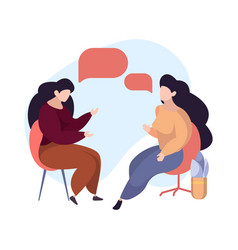psychologist consulting women therapy female sit vector image