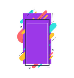 Purple collage frame for story content with vector