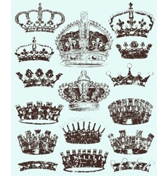 Royal Crowns cracked style vector