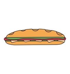 Sandwich icon image vector