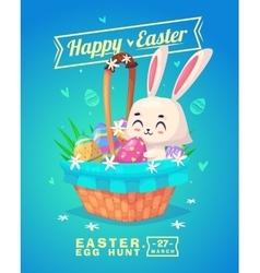set easter characters cute cartoons vector image