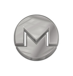 Silver monero coin trendy 3d style icon vector