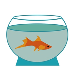 small fish in an aquarium vector image