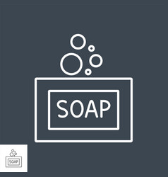soap related thin line icon vector image