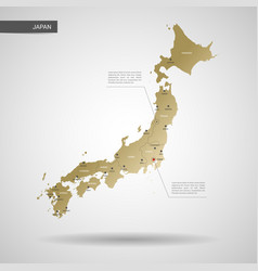 Stylized japan map vector