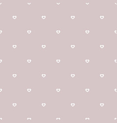 subtle hearts pattern valentines day background vector image