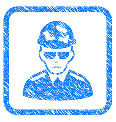 Swat soldier framed stamp vector