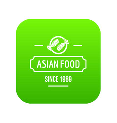 thai asian food icon green vector image