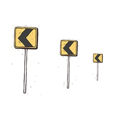 The traffic signs are lined up vector image vector image