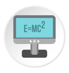 Theory of relativity formula icon flat style vector