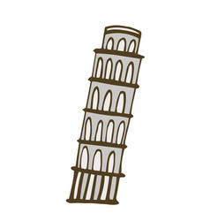 tower of pisa isolated on vector image