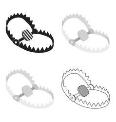 Trap icon in cartoon style isolated on white vector