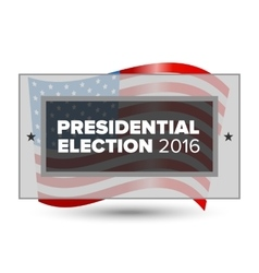 USA presidential election poster vector image
