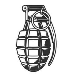 Vintage military hand grenade concept vector