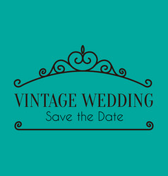Wedding vintage wedding image vector