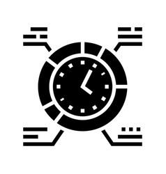 Work schedule glyph icon sign vector
