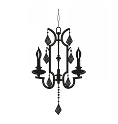 Classic chandelier with crystals on white vector