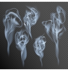 Isolated realistic cigarette smoke waves EPS 10 vector image vector image