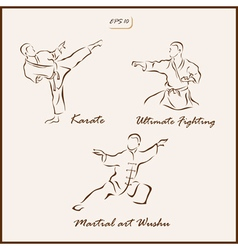 Martial arts vector image