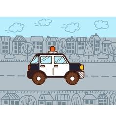 Police car Cartoon vector image vector image