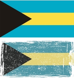 The Bahamas grunge flag vector image vector image