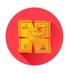 treasure map icon vector image