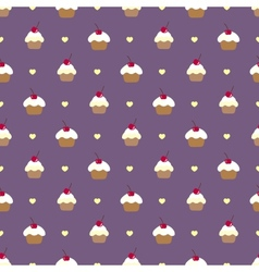 Cupcake seamless pattern Can be used in textiles vector image
