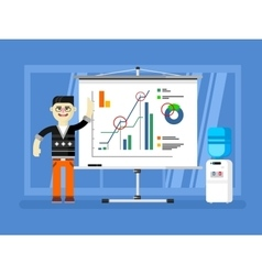 Financial analyst report shows vector image
