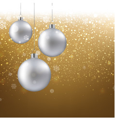 golden christmas banner vector image vector image