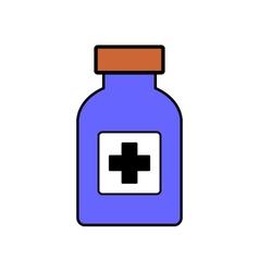 Medicine bottle on white vector image vector image