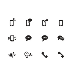 Phone icons on white background vector