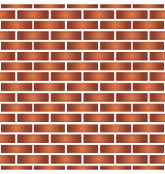 simple red and orange brick wall seamless pattern vector image vector image