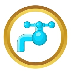 Water tap with knob icon vector