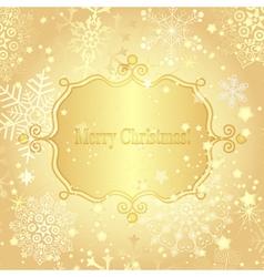 Christmas golden greeting card vector