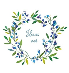 Floral wreath with hand drawn design vector image vector image