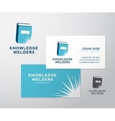 Knowledge Welders Education Abstract Logo vector image vector image