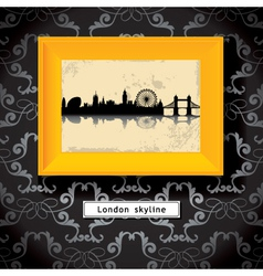 london picture frame vector image vector image