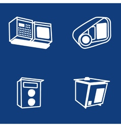 Scanners of car plates vector