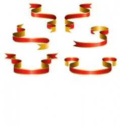 set red ribbon vector image