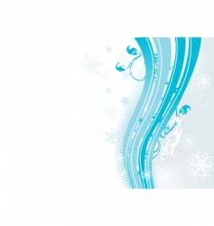 surreal snowflakes design vector image