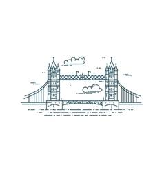 Tower Bridge in London vector image