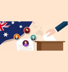 australia democracy political process selecting vector image