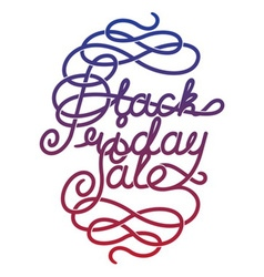 Black Friday Sale lettering vector image